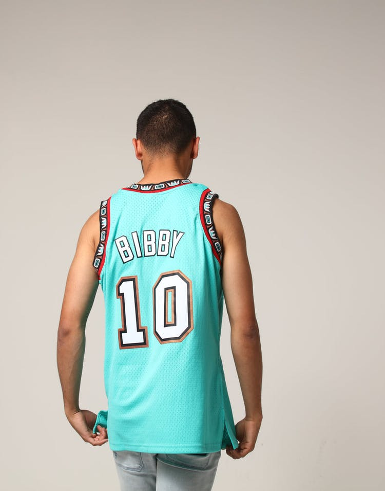 eee7f0876 Mitchell   Ness Vancouver Grizzlies Mike Bibby  10 NBA Jersey Aqua ...