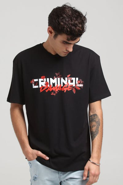 Criminal Damage Caesar Oversize Tee Black/Red