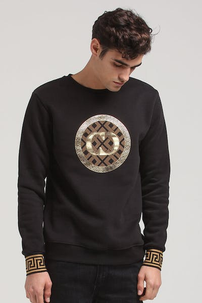 Criminal Damage Verino Sweatshirt Black/Gold