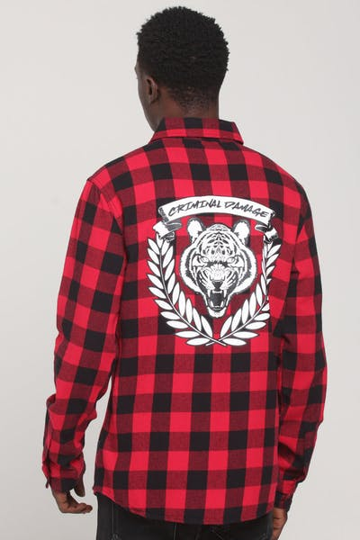 Criminal Damage Tiger Jack Shirt Red