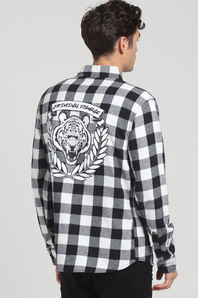 Criminal Damage Tiger Jack Shirt White