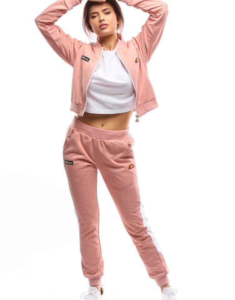 c86b9803 Ellesse Women's Insalata Crop Track Top Light Pink