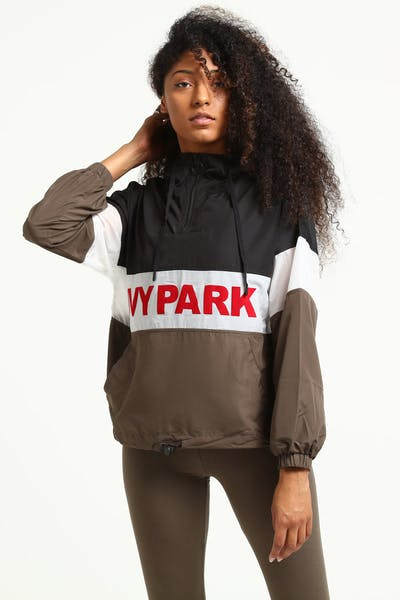 Ivy Park Sheer Flocked Active Logo Jacket Black