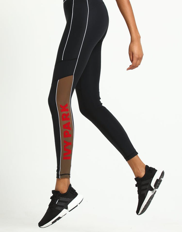 21c351a764174d Ivy Park Sheer Flocked Logo Legging Black – Culture Kings