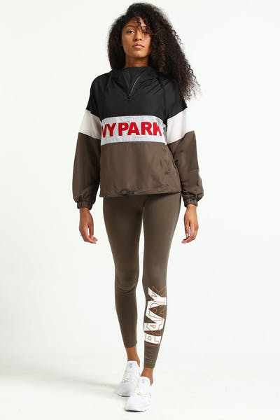 Ivy Park Layer Logo Ankle Legging Crocodile