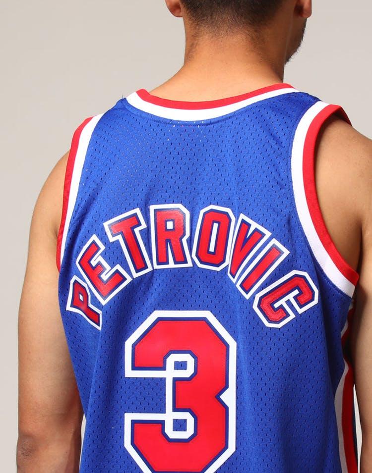 f6405abc63a Mitchell   Ness New Jersey Nets Dražen Petrović  3 NBA Jersey Royal –  Culture Kings