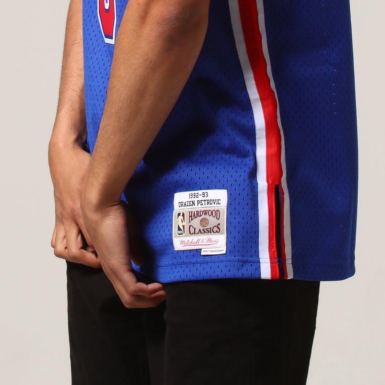 a2e19488ca4 Mitchell & Ness New Jersey Nets Dražen Petrović #3 NBA Jersey Royal
