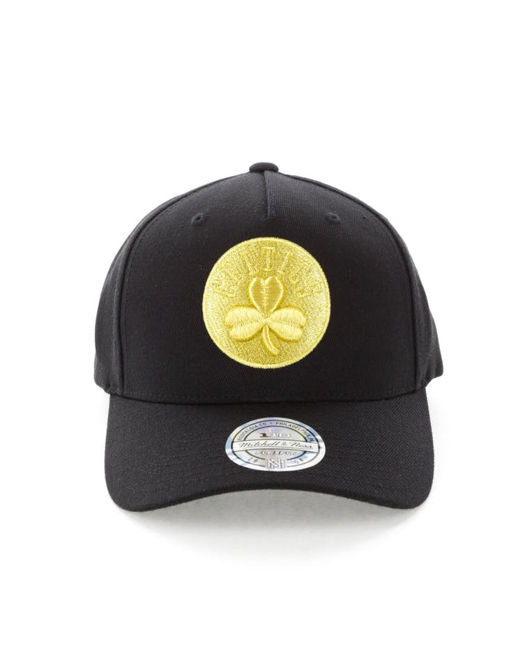 new product 69301 5eed6 Mitchell   Ness Celtics 110 Pinch Panel Snapback Black Gold – Culture Kings