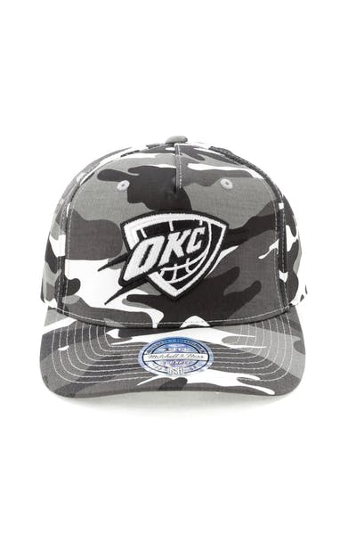 huge discount 3c325 d12ce Mitchell   Ness OKC Thunder 110 Pinch Panel Snapback Camo Grey