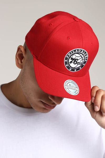 new product be147 35964 Mitchell   Ness Philadelphia 76ers Pinch 110 Snapback Scarlet