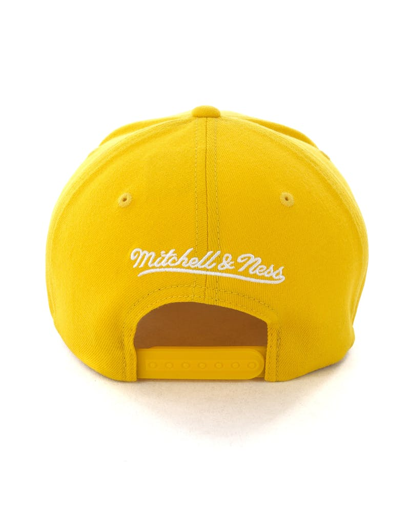 Mitchell & Ness Golden State Warriors Pinch 110 Snapback Yellow