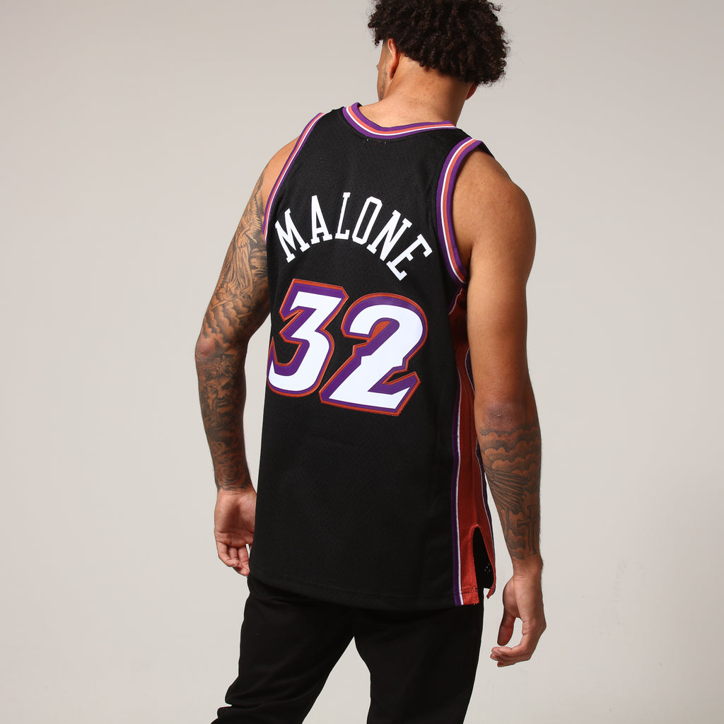 6e9225cf6 ... reduced mitchell ness utah jazz karl malone 32 nba jersey black b9f82  48220