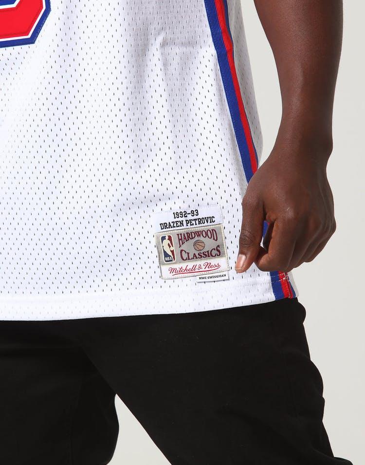 8a3cb81e9f9 Mitchell & Ness New Jersey Nets Dražen Petrović #3 NBA Jersey White ...