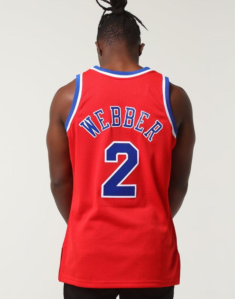 96115a4c020 Mitchell   Ness Washington Bullets Chris Webber  2 NBA Jersey Red – Culture  Kings