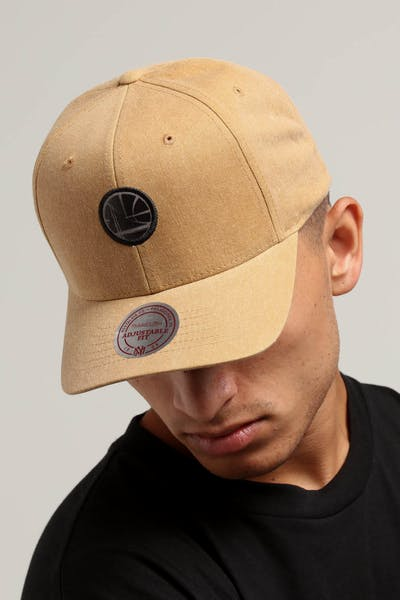 Mitchell & Ness Golden State Warriors The Washed Heather Snapback Brown