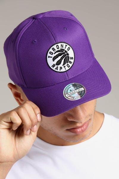 Mitchell   Ness Toronto Raptors 110 Pinch Snapback Purple deb2afdce188