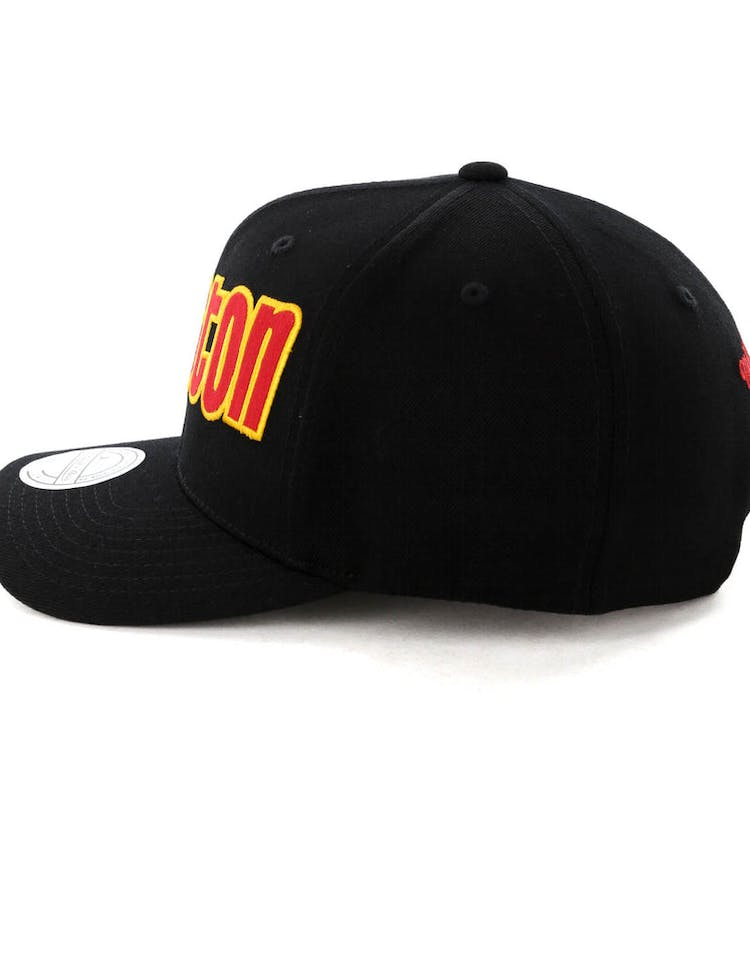 sneakers for cheap 426b7 c18f3 Mitchell   Ness Houston Rockets Jersey Logo 110 Snapback Black Red