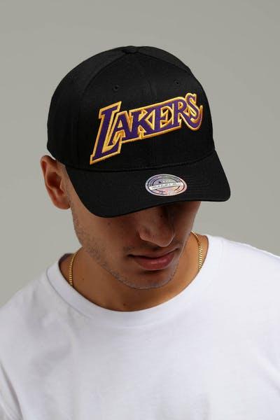 b8eae19b7dc3 Mitchell   Ness Los Angeles Lakers Jersey Logo 110 Snapback  Black Yellow Black