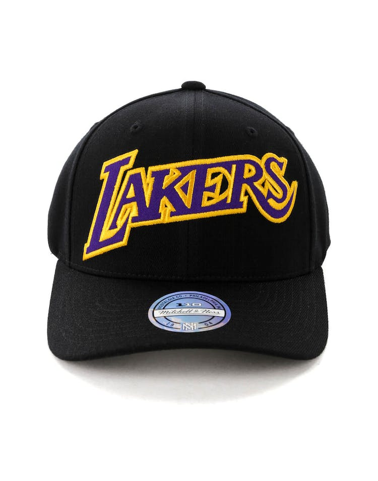 check out 806b8 b4d7a Mitchell & Ness Los Angeles Lakers Jersey Logo 110 Snapback  Black/Yellow/Black