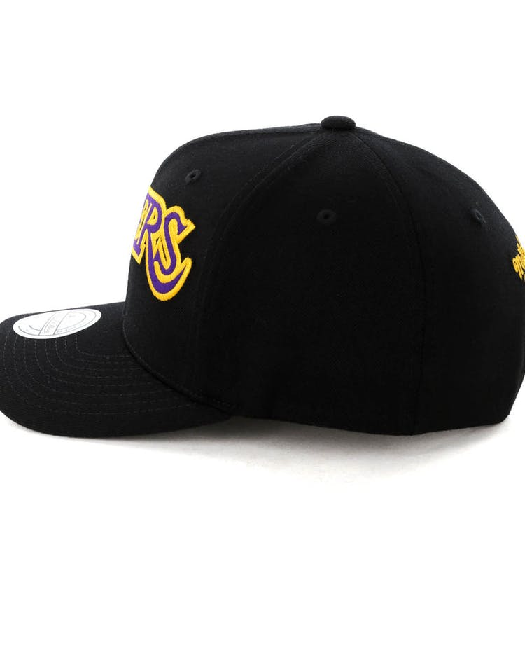check out 0096f c31f0 Mitchell & Ness Los Angeles Lakers Jersey Logo 110 Snapback  Black/Yellow/Black