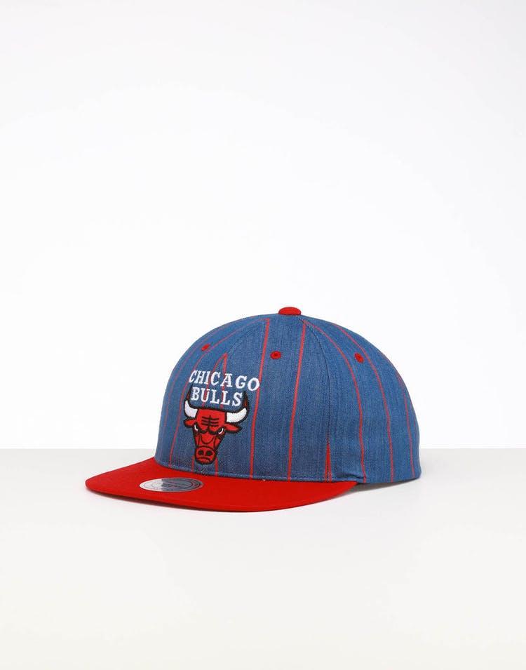 1a94ff4920b717 Mitchell & Ness | Chicago Bulls Cap | Denim Pinstripe Cap | Mens | Lit –  Culture Kings