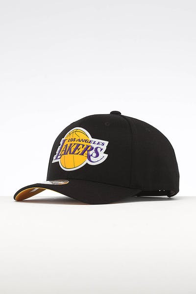 625da0c84bac9 Mitchell   Ness Los Angeles Lakers Chrome Logo Snapback Black