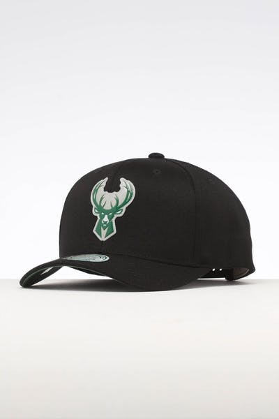 Mitchell & Ness Milwaukee Bucks Chrome Logo Snapback Black