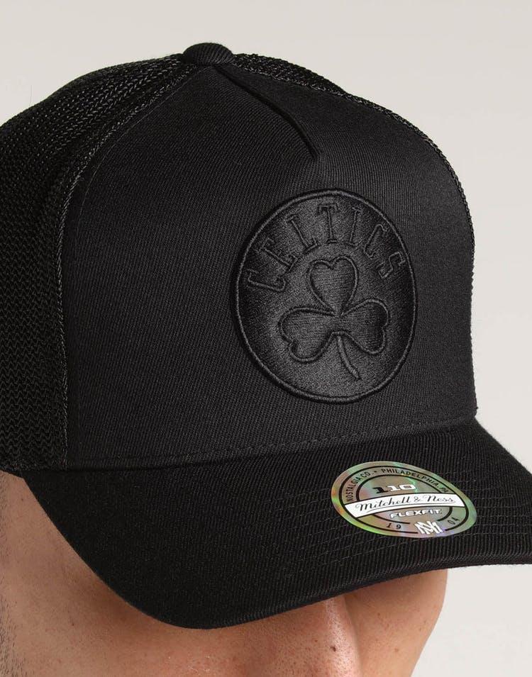 1bab51a07 Mitchell & Ness Boston Celtics 110 Snapback Trucker Black/Black