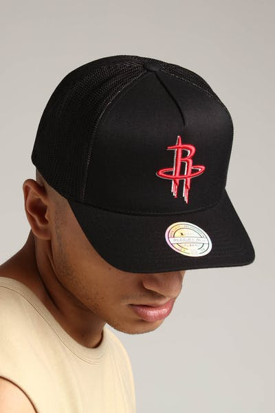 Mitchell & Ness Houston Rockets 110 Snapback Trucker Black