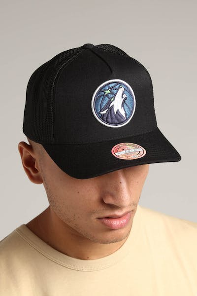 Mitchell & Ness Minnesota Timberwolves 110 Snapback Trucker Black