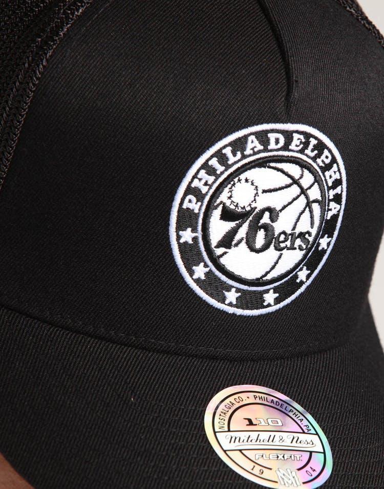 Mitchell & Ness Philadelphia 76ers 110 Snapback Trucker Black/White