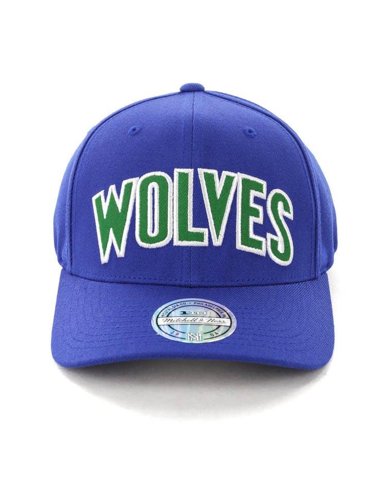 2034c6ba33a2e2 Mitchell & Ness Minnesota Timberwolves Jersey Logo 110 Snapback Royal