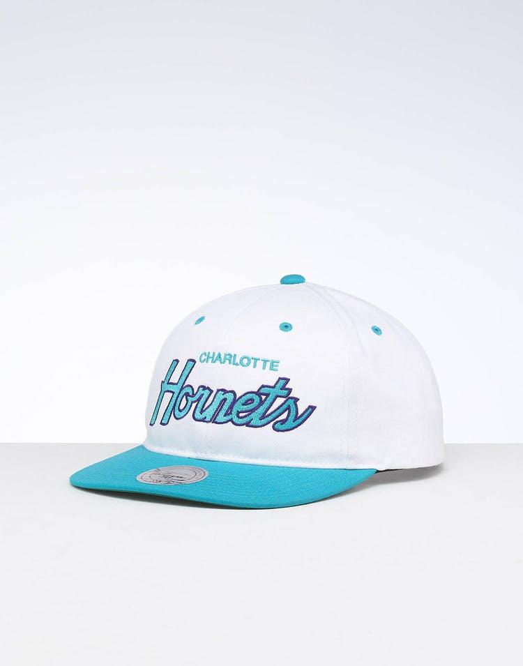 afaf1e23e Mitchell & Ness Charlotte Hornets Deadstock Snapback White/Teal – Culture  Kings
