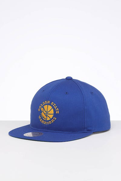 Mitchell & Ness Golden State Warriors Team Logo Deadstock Snapback Royal