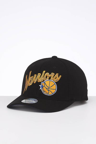 Mitchell & Ness Golden State Warriors Front Line High Crown 110 Snapback Black/OTC
