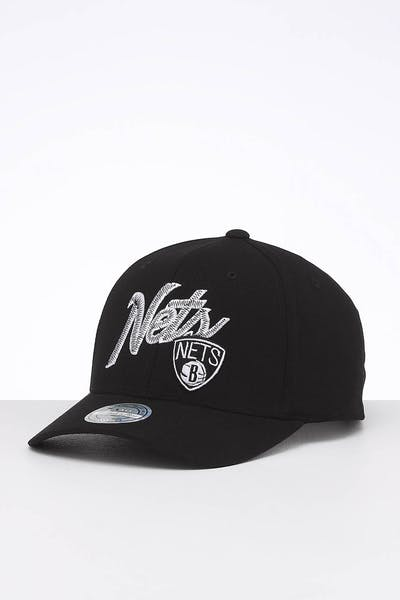 Mitchell & Ness Brooklyn Nets Front Line High Crown 110 Snapback Black/OTC