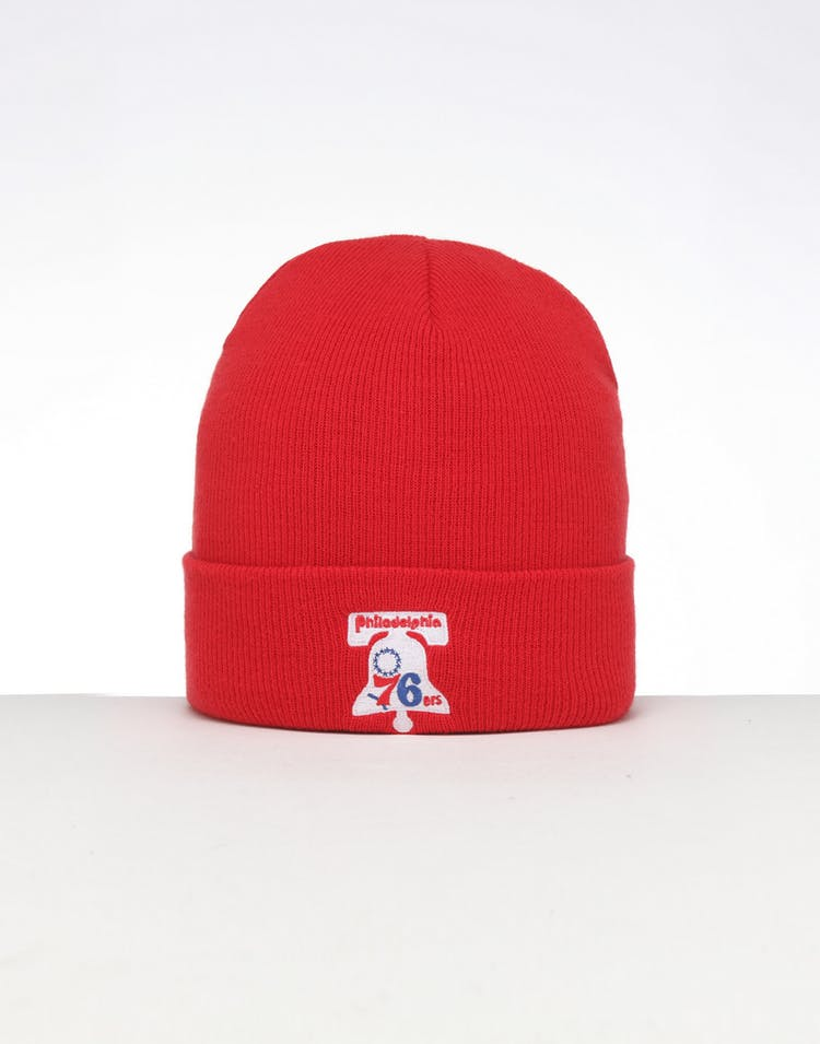 5b083c51646087 Mitchell & Ness | Philadelphia 76ers Knit Beanie Red | Mens | Swagger –  Culture Kings