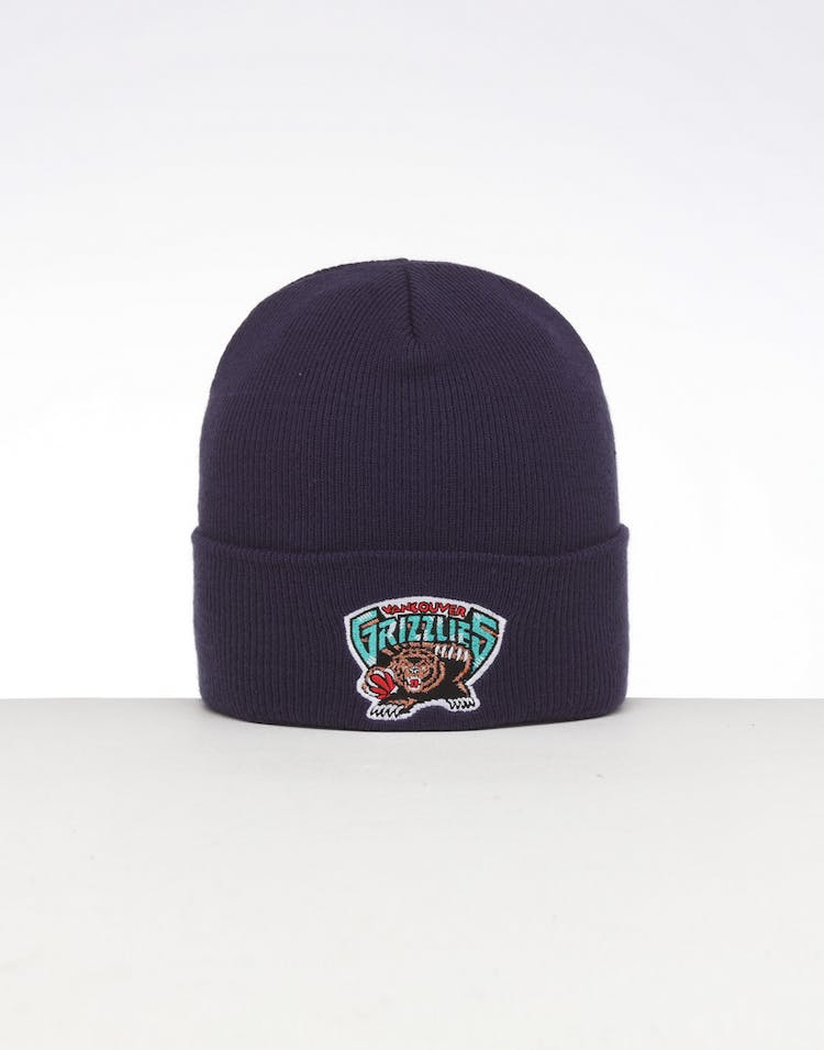 low priced 43d05 6aec3 Mitchell   Ness Memphis Grizzlies HWC Logo Knit Beanie Navy – Culture Kings
