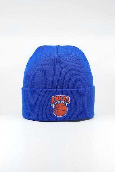 Mitchell & Ness New York Knicks HWC logo Knit Beanie Royal/Blue