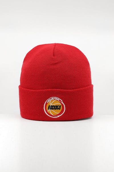 Mitchell & Ness Houston Rockets HWC logo Knit Beanie Red