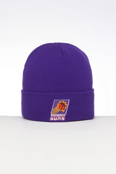 4cadf7ba Mitchell & Ness Phoenix Suns HWC Logo Knit Beanie Purple