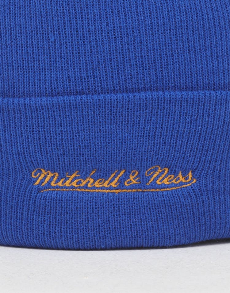 Mitchell & Ness Golden State Warriors HWC Logo Knit Beanie Royal/Blue