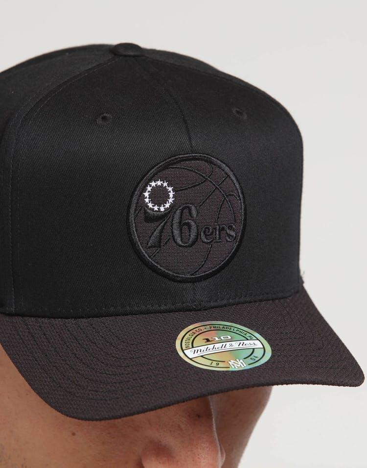 new style ad219 7555e Mitchell   Ness Philadelphia 76ers 110 Kevlar Snapback Black