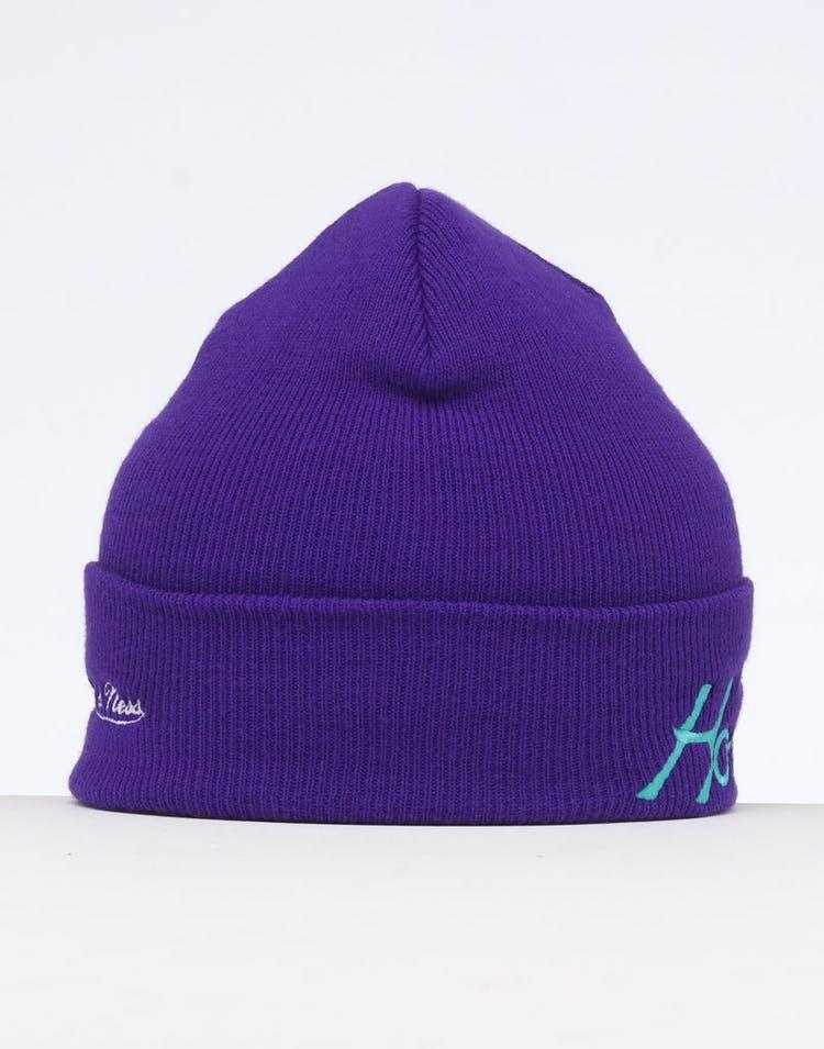 18fe9dcc5609de Mitchell & Ness Charlotte Hornets Special Script Knit Purple ...