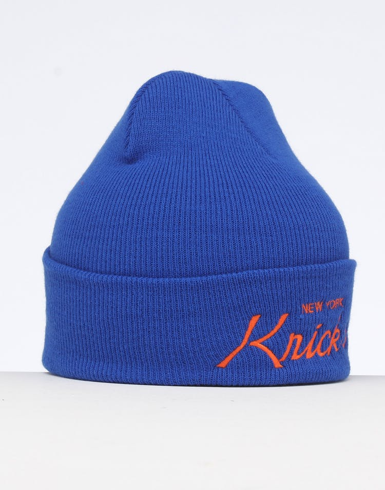 Mitchell & Ness New York Knicks Special Script Knit Royal/Blue