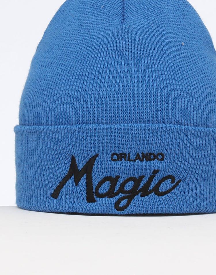 082c4ff4b3303a Mitchell & Ness Orlando Magic Special Script Knit Royal/Blue ...