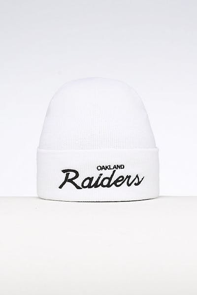 85ebf13fb347a Mitchell   Ness Oakland Raiders Special Script Knit White