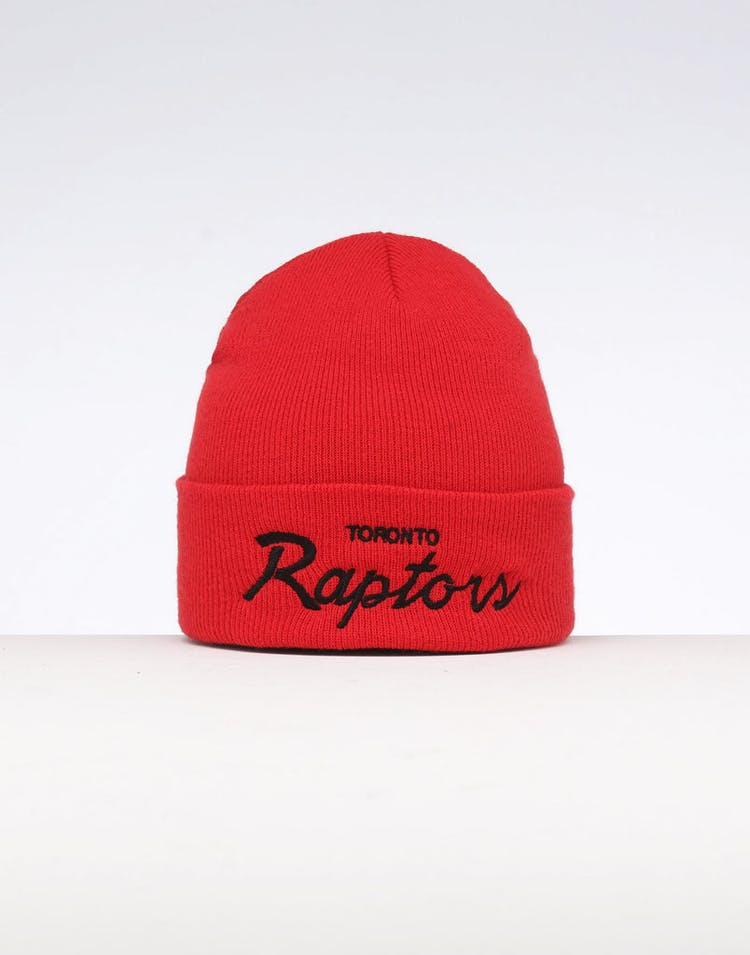 86de15ade Mitchell & Ness Toronto Raptors Special Script Knit Red
