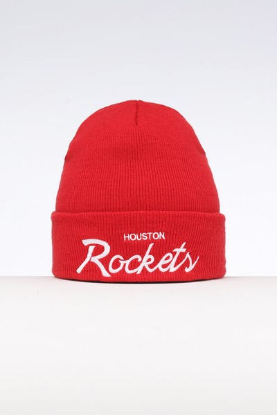 8351c2783 Mitchell   Ness Houston Rockets Special Script Knit Red