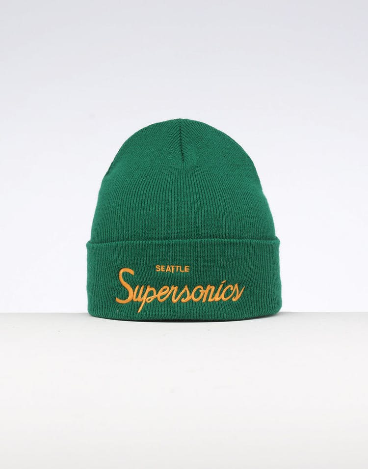 c8af7862682f38 Mitchell & Ness Seattle Supersonics Special Script Knit Green – Culture  Kings